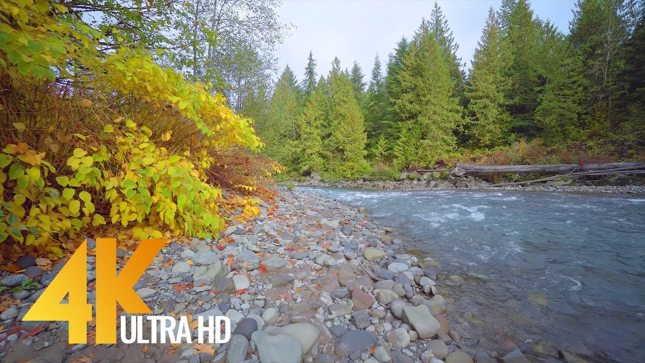 4K Mountain River Ambient Collection Nooksack River Mount Baker Area Wa 3 Hrs