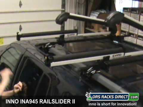 Inno INA945 Rail Slider II Ski Rack / Snowboard Rack Review Video U0026 Demo