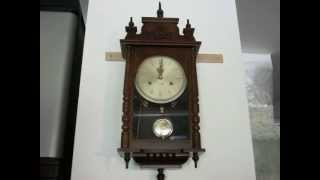 Ornate Linden 31 Day Chime Wall Clock - Mahogany
