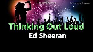 "Ed Sheeran ""Thinking Out Loud"" Instrumental Karaoke Version with vocals and lyrics"