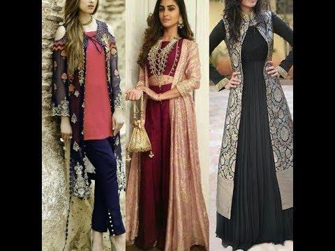 Latest Long Net Embroidered Shrug Design Ideas Pakistani