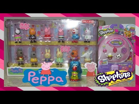 6a9eb737383 Peppa Pig Fancy Dress Party Figure 12-Pack | Shopkins Season 5-5 Pack |  Peppa Pig Collection