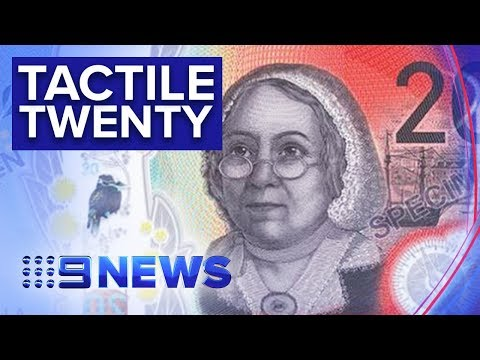 Visually Impaired Australians Able To Identify New $20 Note | Nine News Australia