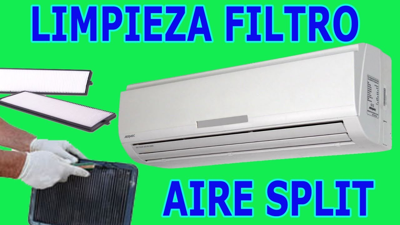 como limpiar filtro de aire acondicionado split split ac