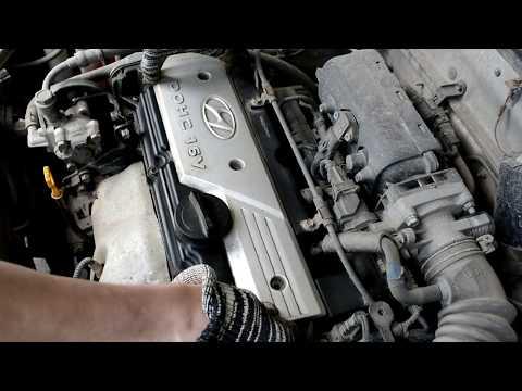 Hyundai Accent 2. Замена свечей зажигания и высоковольтных проводов (G4EC)