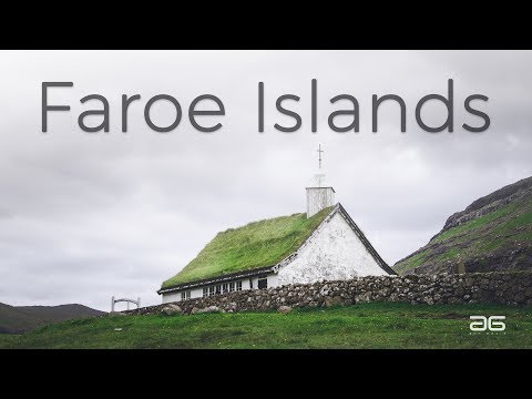 Landscapes of the Faroe Islands from a drone
