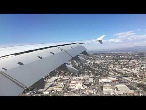 HEAVY Landing - Dubai To Los Angeles - EMIRATES A380 Landing at Los Angeles - 09/28/2016