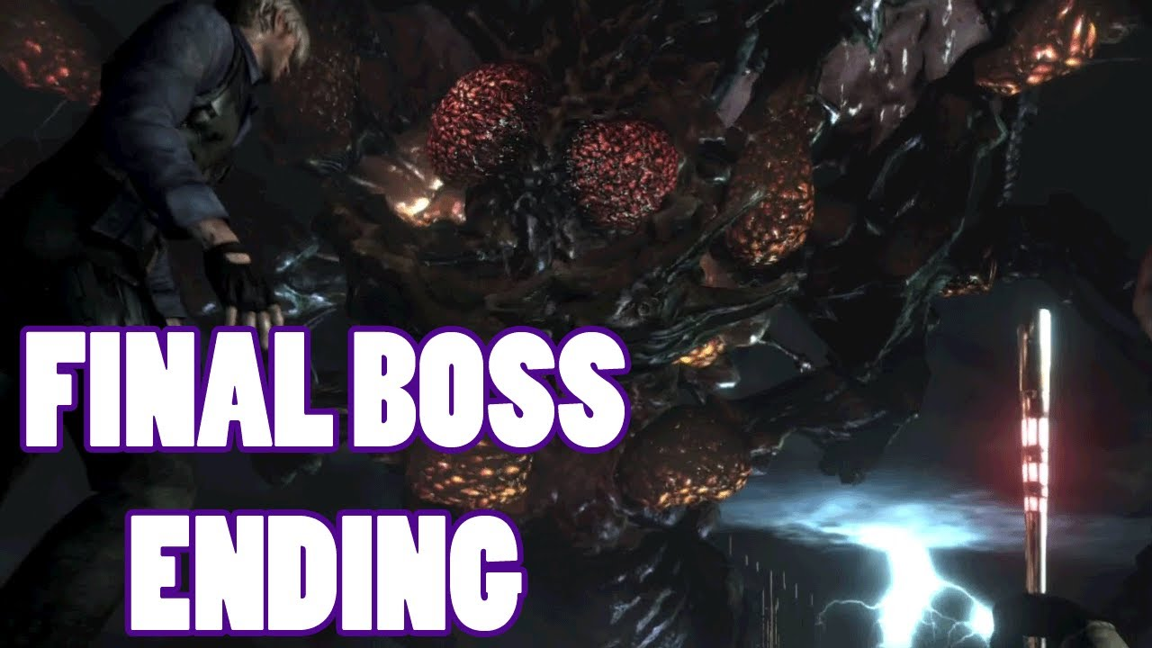 Resident Evil 6 Leon Final Boss And Ending Youtube