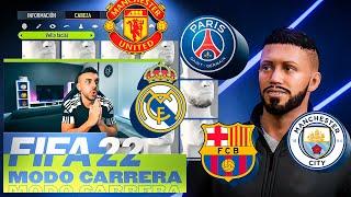 MI NUEVO EQUIPO EN EL MODO CARRERA DE FIFA 22 !!!! DjMaRiiO