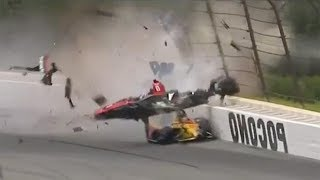 Scariest IndyCar Crash You will ever see-New Robert Wickens Crash-Car flies over other drivers head!