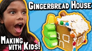 Christmas Gingerbread House Making Challenge with the Kids!
