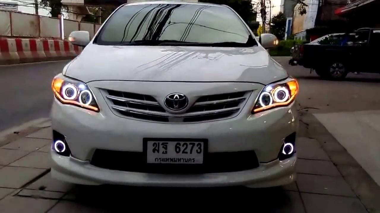 แต่งรถ Toyota Altis ไฟหน้าแต่งขั้นเทพ โดย Optiongt Youtube