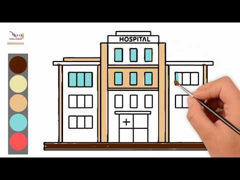 Draw And Color A Hospital; Learn Colors For Kids