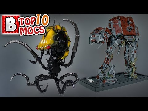 Awesome Abandoned AT-AT! also aliens and stuff.   TOP 10 MOCs of the Week