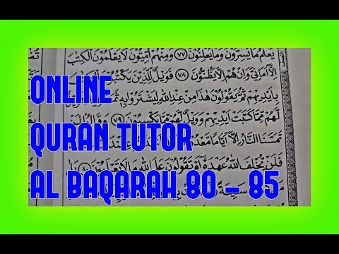 LET'S LEARN TO READ THE QUR'AN Online Quran Tutor Al Baqarah 80  - 85