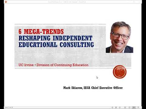 6 Mega -Trends Re-Shaping Independent Educational Consulting 2-27-19