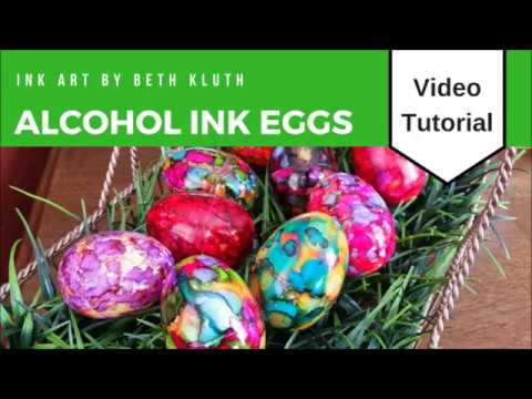Alcohol Ink Egg Tutorial