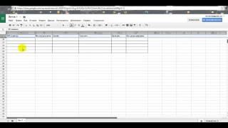 как создать таблицу в Google Диске