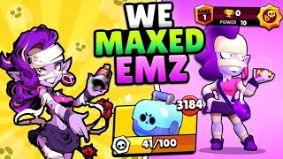 WE GOT FREE EMZ! MAX POWER EMZ AT 0 TROPHIES! SHE IS OP IN NEW SHOWDOWN