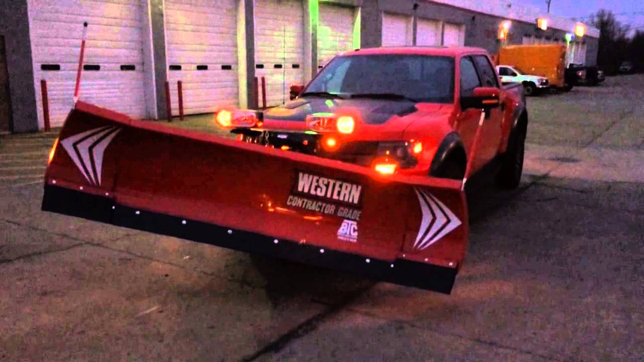 Ford Raptor Western Wideout Snow Plow Youtube
