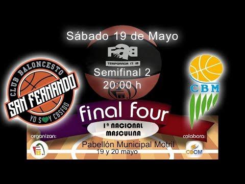 FINAL FOUR 1ª NAC MAS 2018 - CB San Fernando - Montetucci CB Martos