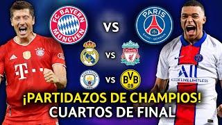 ?¡LOCURA! Así se definió los CUARTOS DE FINAL de esta Champions league 2020/21 - REACCIÓN y ANÁLISIS
