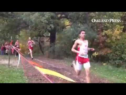 Downhill at the first mile in boys Flint Metro meet #miprepzonecrosscountry