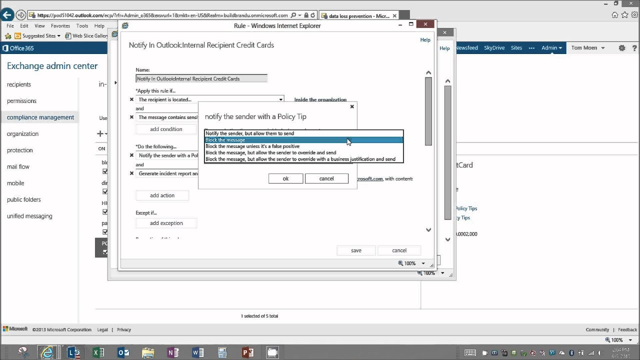Office 365 Demo - Configuring DLP - YouTube
