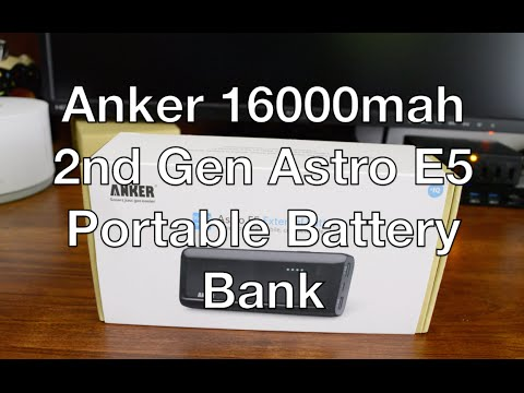 Best portable battery? - Anker 2nd Gen Astro E5 16000mAh External Battery