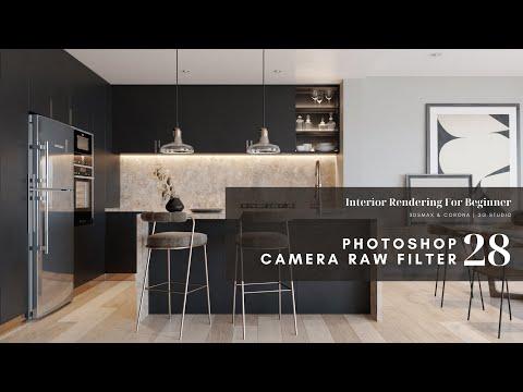 Seri Interior Rendering Untuk Pemula #28 : Camera Raw Filter Photoshop