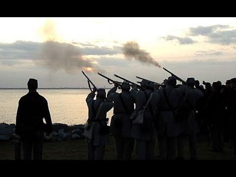 Civil War Enthusiasts Reenact The Opening Shots Of The War