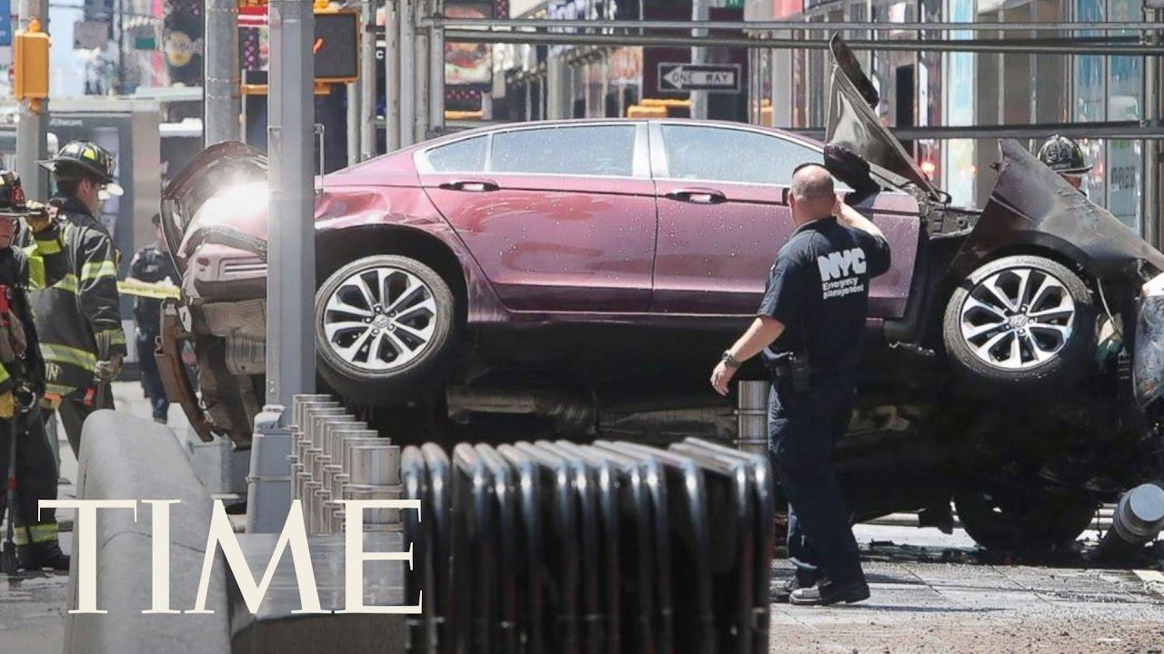 Car Plows Crowd New York