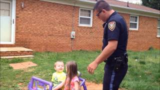 cop daddy dad pulls over his kids for being too cute