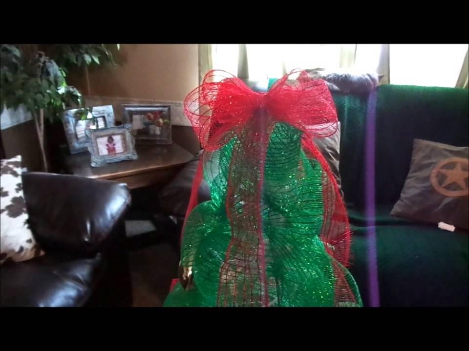 tomato cage deco mesh christmas tree youtube - Tomato Cage Christmas Tree With Mesh