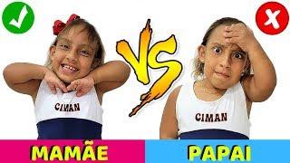 Maria Clara finge ir para escola com Mamãe VS Papai -  MC Divertida (Compilation)