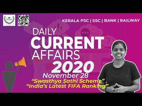28 November 2020 Current Affairs In Malayalam | Daily Current Affairs In Malayalam | PSC | SSC | CET