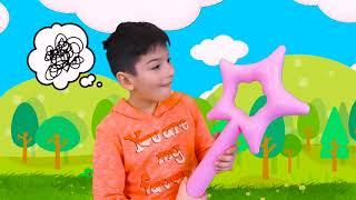 Sasha play with Inflatable Princess Carriage toy