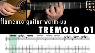 Flamenco Guitar Warm-up 05 - Tremolo 1