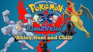 Pokemon Go stream shiny hunt night walk