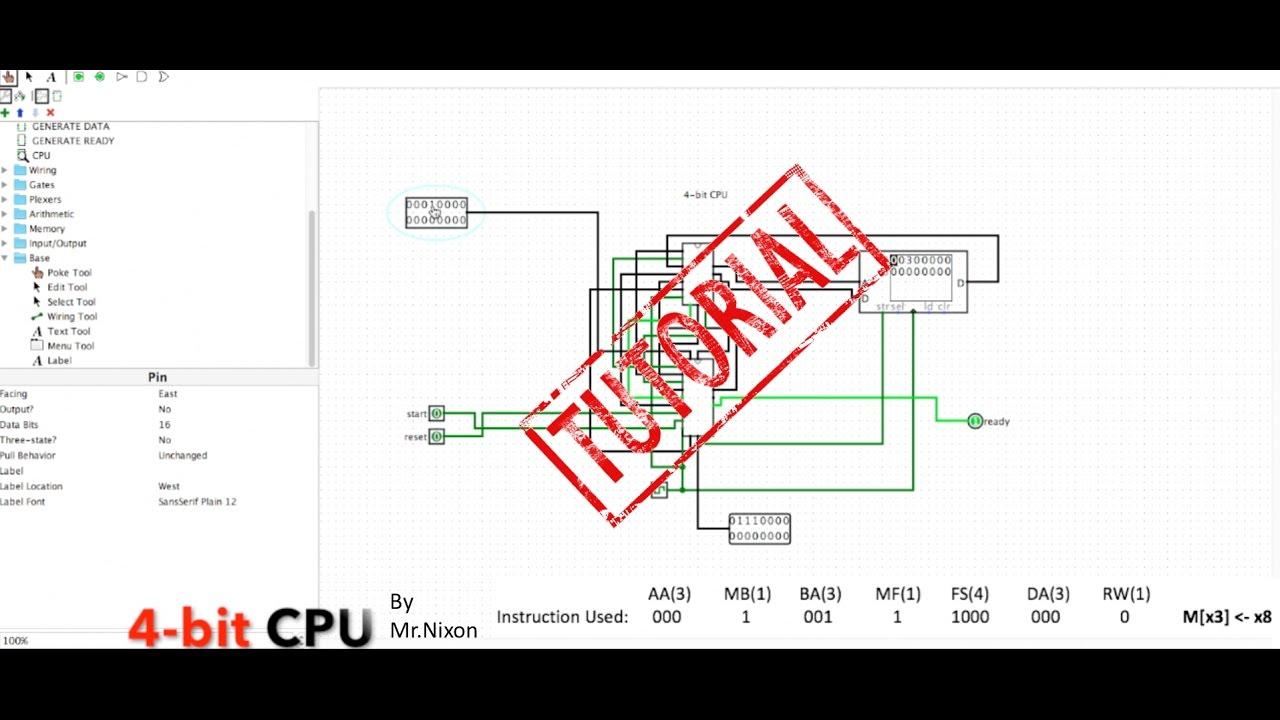 Logisim 4-bit CPU