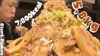 大食い→味玉豚らーめん全マシマシ麺増しを豚らーめん板橋店で食べた。 thumbnail