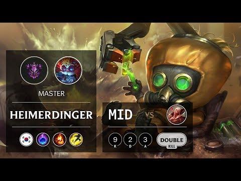 Heimerdinger Mid vs Vladimir - KR Master Patch 9.21