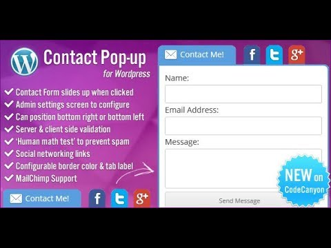 how to add a popup contact form in wordpress youtube