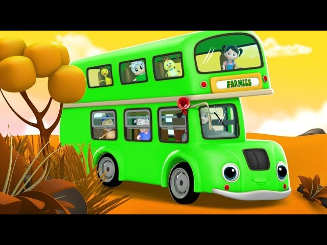 Wheels On The Bus | Kindergarten Nursery Rhymes For Children | Cartoons by Farmees