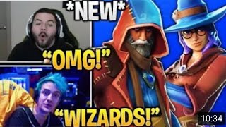 Streamers React To 'NEW' Wizard Skins! Fortnite Daily Funny And Epic Moments!