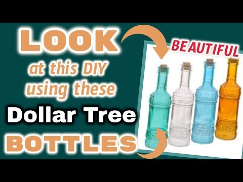 LOOK at this DIY using these Dollar Tree BOTTLES | BEAUTIFUL  BUDGET Friendly DIY