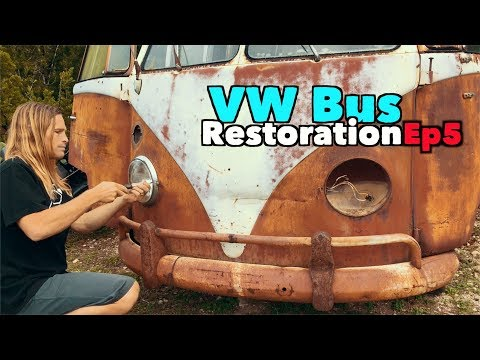 VW Bus Restoration - Episode 5! Wheels on and Change of Plans!   MicBergsma