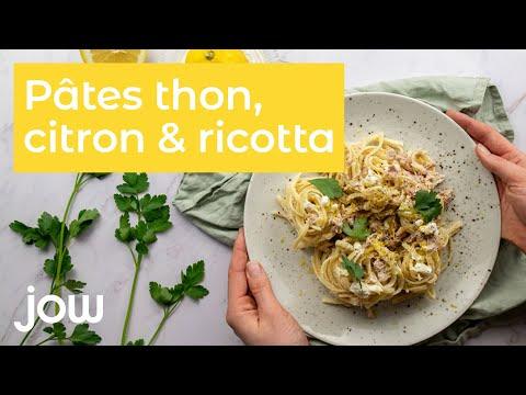 recette-des-pâtes-thon,-citron-&-ricotta