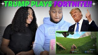 "Azerrz ""IF TRUMP played FORTNITE: Battle Royale!"" REACTION!!!"