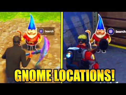"""Search the Hidden Gnome in Different Named Locations"" ALL HIDDEN GNOME LOCATIONS FORTNITE WEEK 7!"
